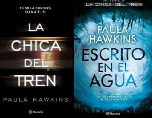 La-Chica-del-tren-y-Escrito-en-el-Agua-por-Paula-Hawkins-Spanish