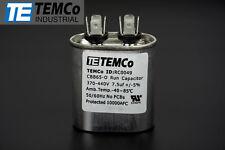 TEMCo 7.5 MFD uF Run Capacitor 370/440 vac Volts AC Motor HVAC 7.5 uf