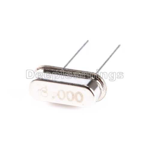 20Pcs 8.000MHZ 8Mhz Crystal Oscillator HC-49S Low Profile hr