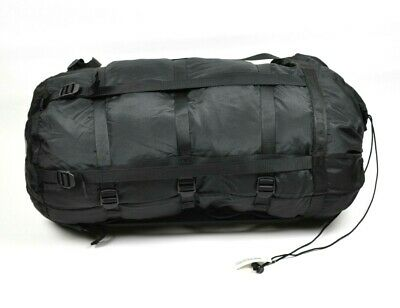 Military Compression Stuff Sack 9 Strap Black Used Sleeping Bag System