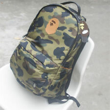ff876d8e741f BAPE A BATHING APE Green Camo Backpack Book Bag Travel Shoulder Rucksack  Satchel