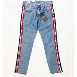 7051b47e New Levi's Strauss BIG E 501 Taper Sports Stripe Men's Jeans Size 32 ...