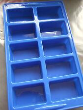 Molde de Silicona (10) rectángulo Mini Pan-Jabón/Chocolate/Pastel Bar/Bandeja de Horno