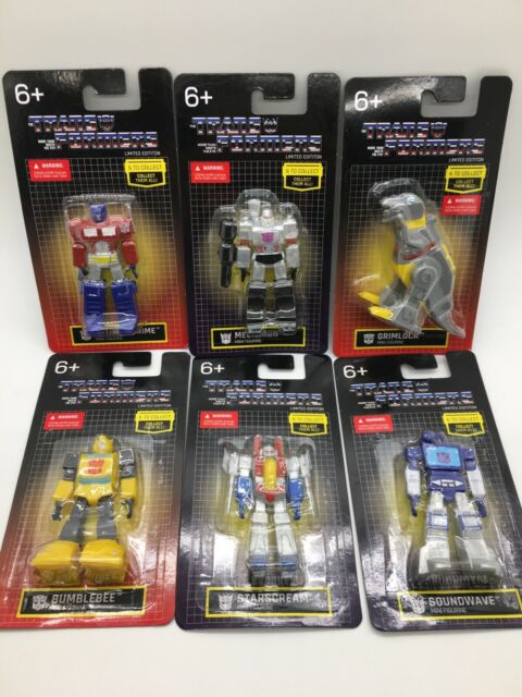 Transformers Mini Figures LIMITED EDITION Complete Set Bumblebee Megaton Prime