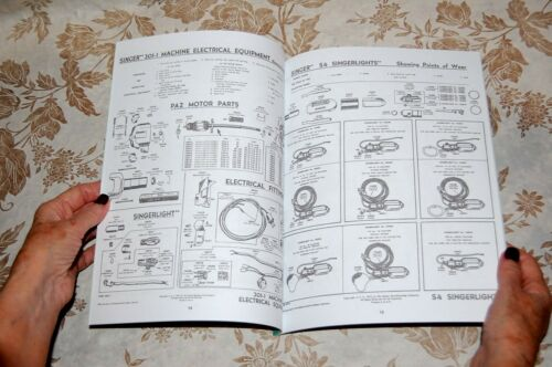 Rare Service Manual for Singer Sewing Machines Motors Foot Controllers Lights,