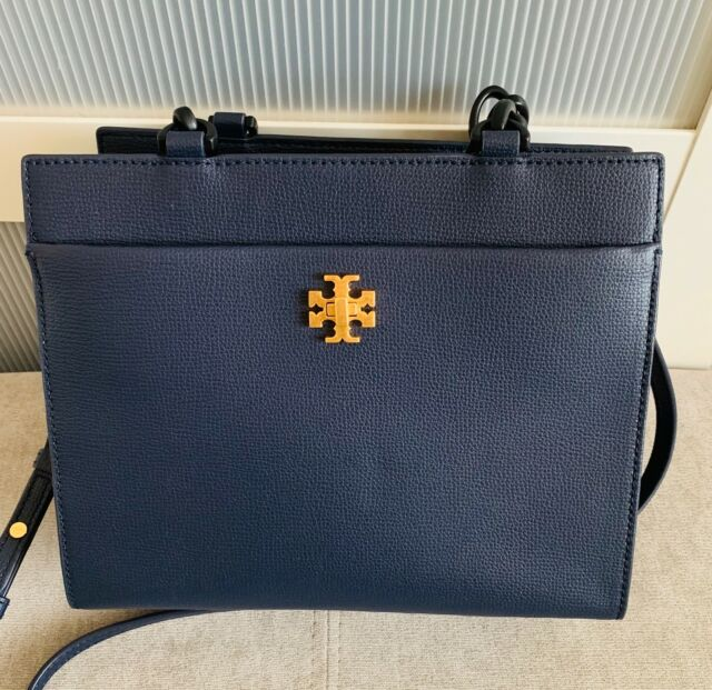 c1669bfc0a0a Tory Burch Kira Small Tote ROYAL NAVY Pebbled Leather Tote Shoulder  Crossbody