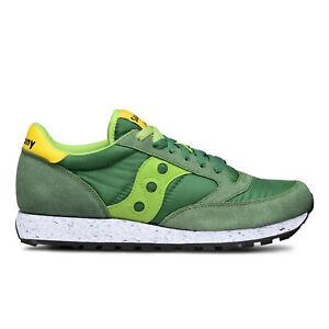 Scarpe-Saucony-Jazz-Original-Uomo-Verde-Camoscio-e-Tela-Ammortizzata-Sneakers