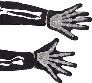 Skeleton Gloves Halloween Adult Adult Mens Smiffys Fancy Dress Costume Accessory