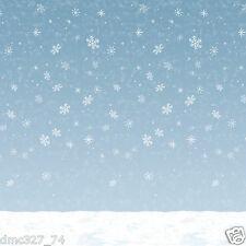 CHRISTMAS Frozen Theme Party Decoration WINTER SKY Snowflake BACKDROP Photo Prop