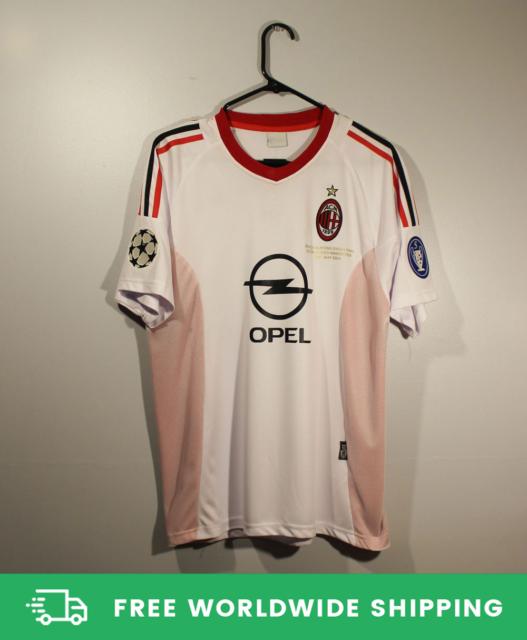 AC Milan 2002-2003 UCL Final Jersey Shirt Kit Shevchenko ...