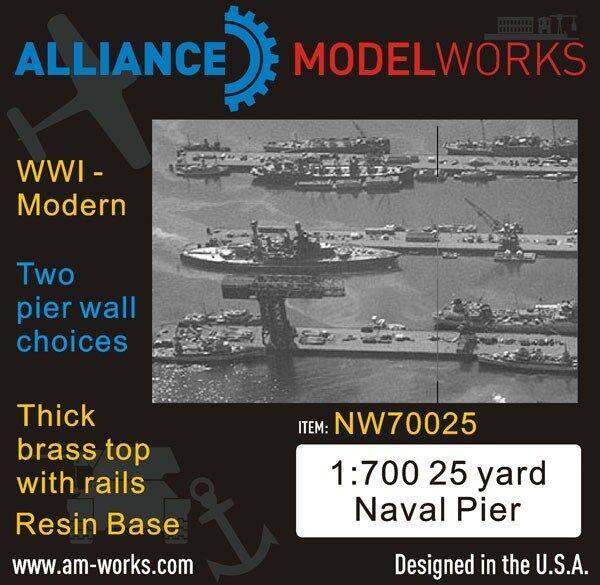 Alliance Model Works 1 700 25 Yard Naval WWI-Modern Pier Wall Choice  NW70025