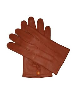 Men-039-s-genuine-leather-Unlined-driving-gloves-with-snaps