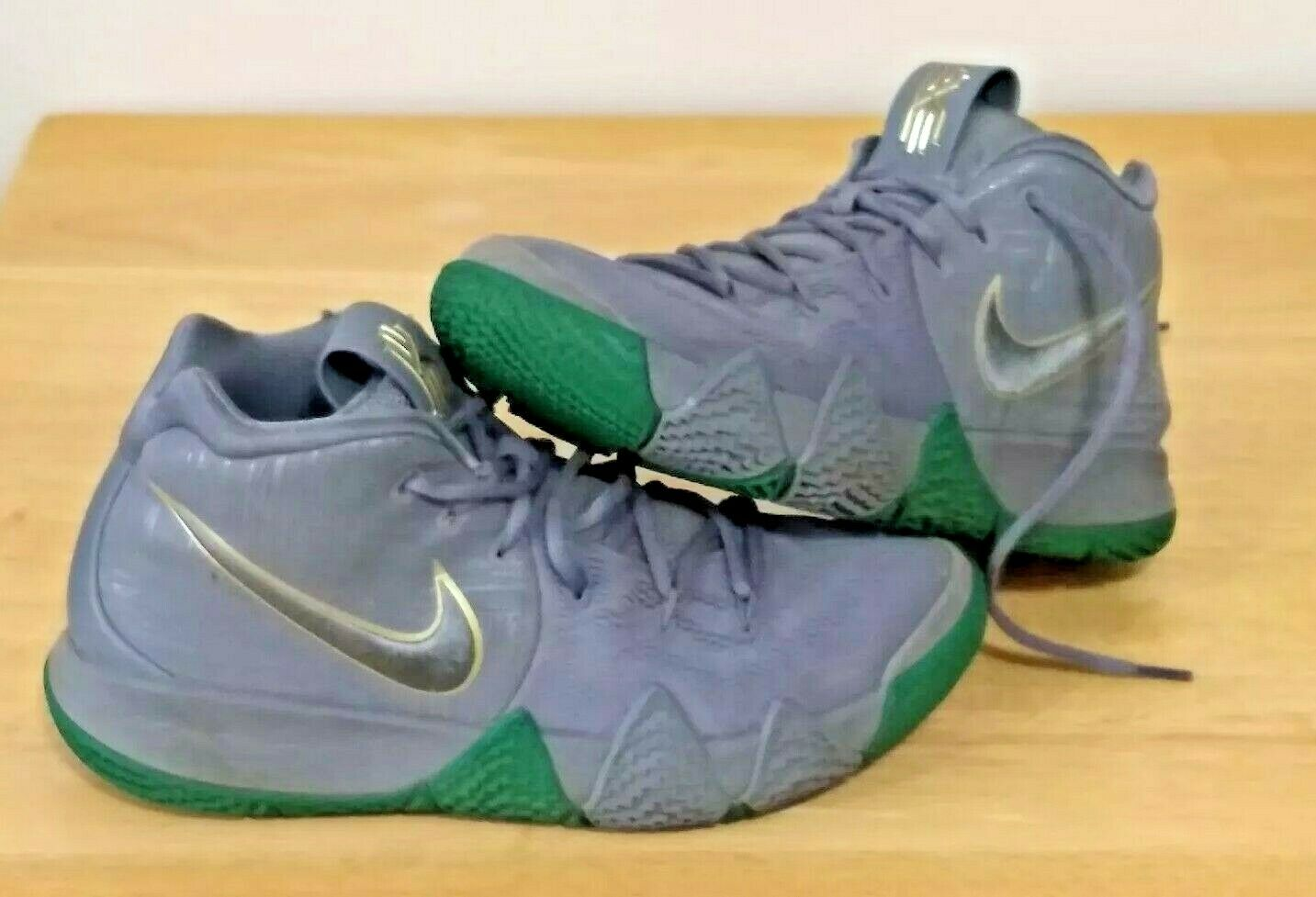 new products 6302a 3f44f Nike Kyrie 4 City of Guardians Cool Grey White Green 943806 001 Size 8  Sneakers