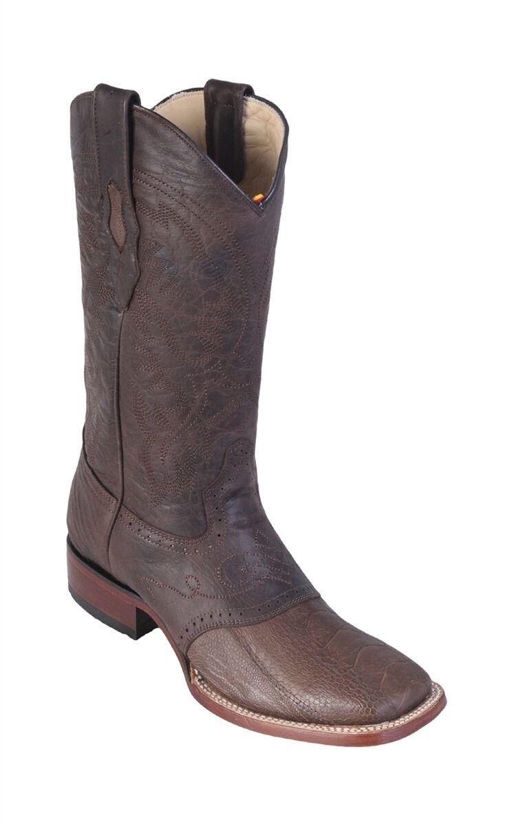 LOS ALTOS Marronee GENUINE OSTRICH LEG SQUARE TOE WESTERN COWBOY avvio (D) 8210507