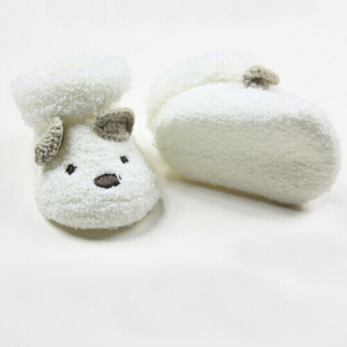 Cute Newborn Baby Boy Girls Socks Infant Cute Bear Crib Warm Shoes Socks Nice />