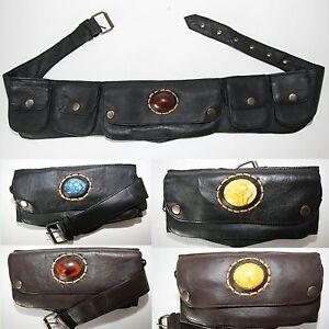 Bolsa-de-cinturon-Rinonera-India-Goa-Hip-classic-Cinturon-Cuero-Liso