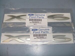 DECALS-2-X-XR6-SIDE-SKIRT-BADGES-NEW-GENUINE-FORD-BA-BF-XR6