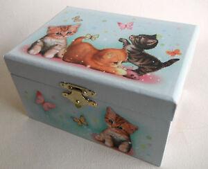 Schmuckdose Katzenkinder Spieluhr Melodie Bruder Jakob Schmuckkästchen Spieldosen