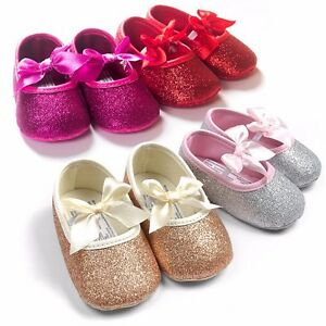 5cb2b7dbbd9ca Details about Glitter baby shoes sneaker anti-slip soft sole toddler  fashion size 0-18 months