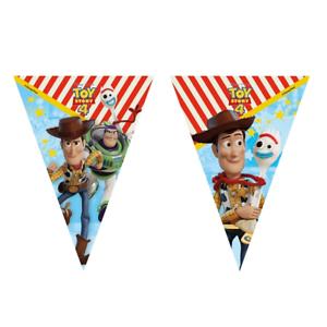 Disney-Toy-Story-4-drapeau-banniere-Bunting-Enfants-Fete-D-039-Anniversaire-Decoration