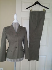 Anne Klein 2Pc. Pants & Blazer Lades Suit Gray/Green Plaid  Sz 4P/8P (Fits 6P)