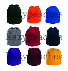 PEACHES-Unisex-Mens-Womens-Team-Sports-Pro-Stretch-Warm-Winter-Fleece-Beanie