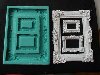 Silicone Mould FRAMES RECTANGULAR Sugarcraft Cake Decorating Fondant / fimo
