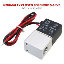 12v Electric Solenoid Air Valve Dc 14 2 Way Normally Closed Pneumatic Aluminum