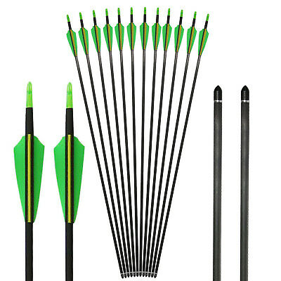 """6x 32/"""" Hunting Aluminum Black Arrows Shaft /& Screw in Tips for Practice Archery"""