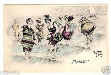 "POSTCARD THIELE BEACH BATHERS DANCE ""MINUET"""