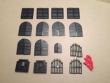 Lego Lot of Black Castle Doors Gates Castle Parts Windows lot H374