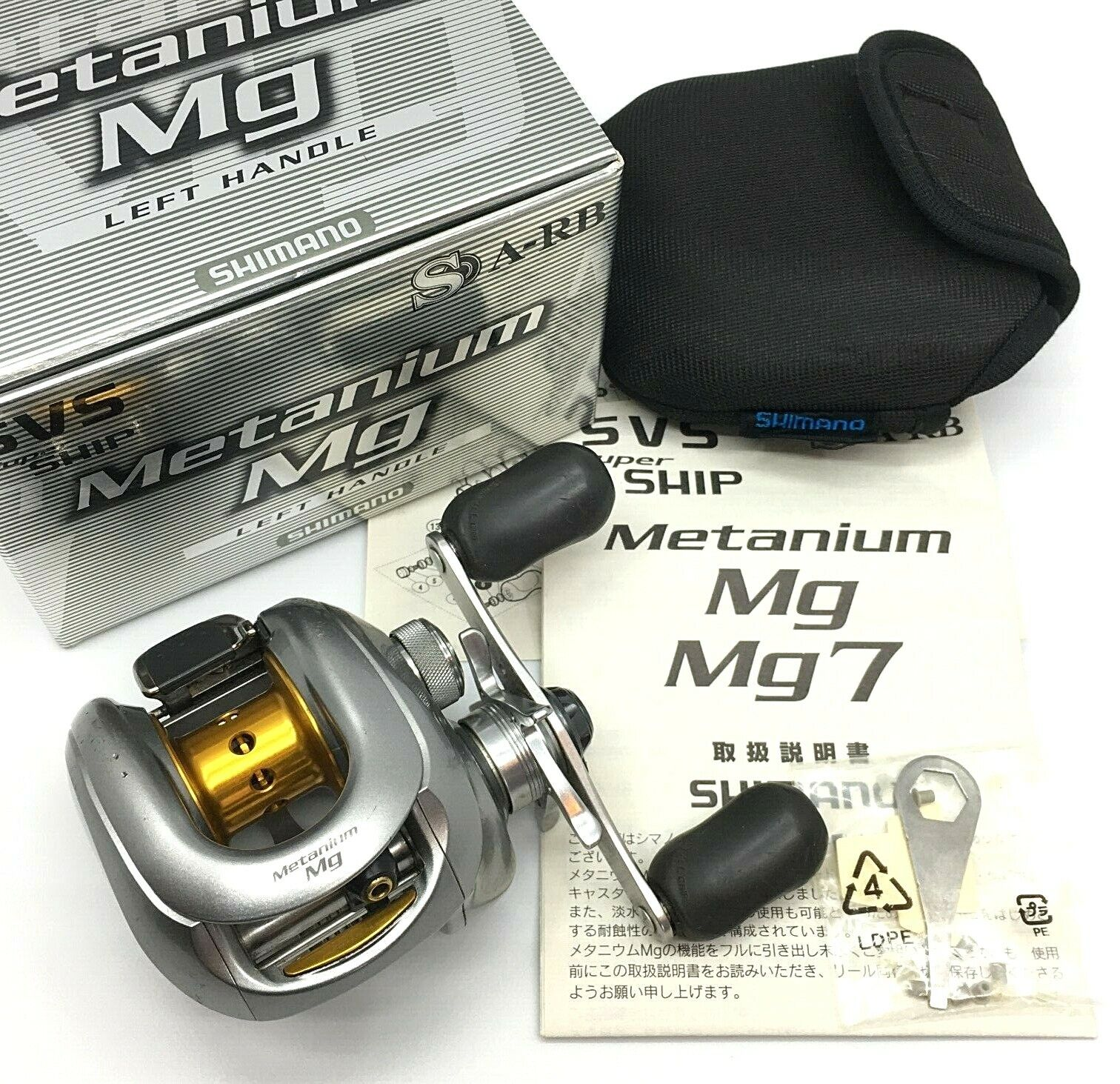 Shimano Metanium Mg Left Handed Bait Casting Reel wBox Excellent  From JAPAN