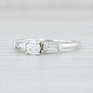 0-50ctw-Diamond-Engagement-Ring-14k-White-Gold-Size-6-25-Round-Solitaire