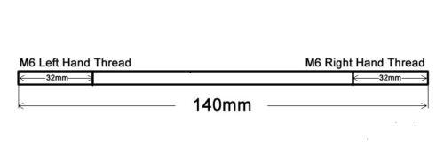 Xenon HID light Ride Height Level Sensor Linkage Connecting Rod 165-175mm M6 VJ