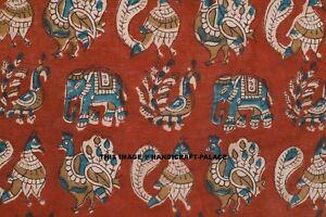 3 Yard Cotton Blue Bird Indian Hand Block Print Sewing Material Craft