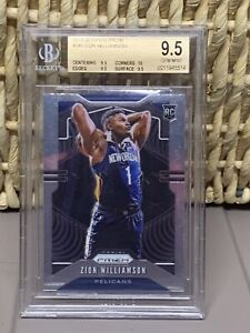 2019-Panini-Prizm-Zion-Williamson-ROOKIE-BGS-9-5-TRUE-GEM-MVP