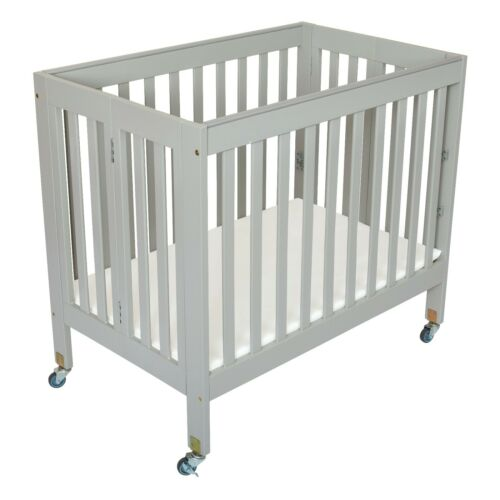 Fizzy Classic Folding Portable Crib with 3 Position Mattress board