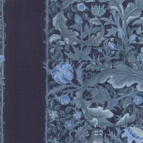 Moda May Morris Studio The Owl 1895 Indigo Fabric Per 1//4 Metre