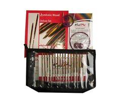 KnitPro Deluxe Set - Stricknadeln aus Symfonie Holz 20613 - Seilverbinder gratis