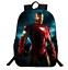 Girls//Boys Super Hero Iron Man Printing Backpack for Children Backpack Schoolbag