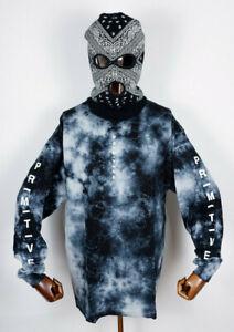 Primitive Skate Skateboard Tee T-Shirt Longsleeve Moods Washed Black Wash in L