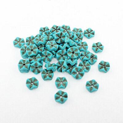 8 Turquoise Howlite Beads Elephant Shape 22mm x 16mm Gemstone BD1403