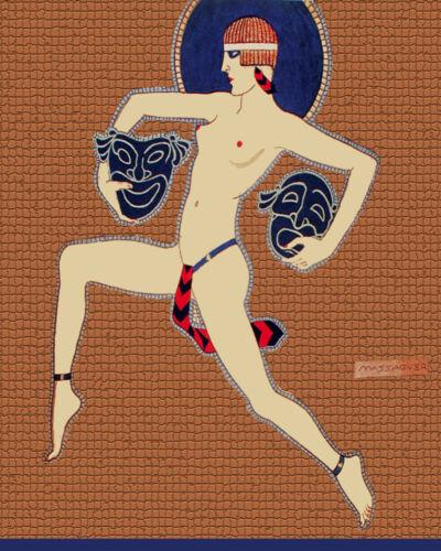 1656.Decoration Poster.Greek Theater Goddess.Home room interior wall design art