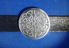 Belt Buckle Celtic Metal Weave Genuine Pewter Mens Kilt Gothic FREE UK POST