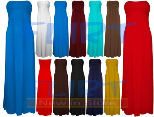 Womens Boobtube Sleeveless Bandeau Knot Front Maxi Ladies Dress Plus Size 16-20