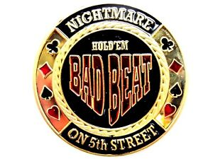 Pokerguard-Poker-Card-Guard-034-Bad-Beat-034-vergoldet-Pokerzubehor