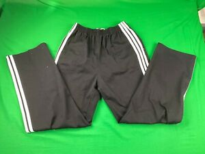 VINTAGE-ADIDAS-POLYESTER-COTTON-BLEND-WARM-UP-PANTS-MADE-IN-USA-BLACK-EUC-LARGE
