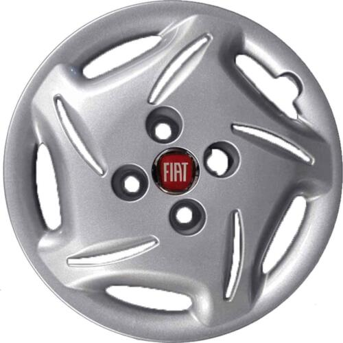 "Set 4 Wheel Covers Hubcap Cover Wheels Bolts 13 /"" Logo Red Brush"