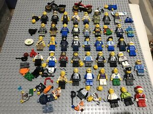 5 random LEGO minifigures from large collection job lot space city police etc