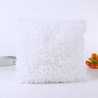 NEW Soft Plush Square Pillow Case Sofa Waist Throw Cushion Cover Home Decoration